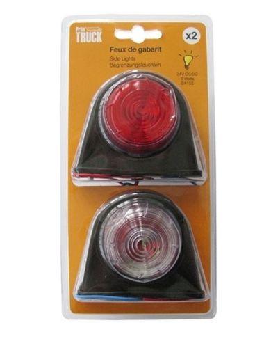Markeerlamp Britax rood/wit (2stuks) 24V/5W