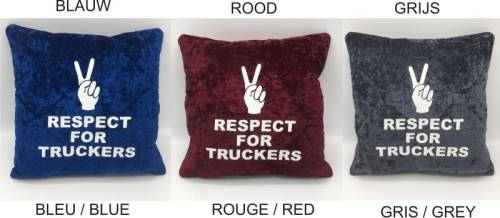 Kussen Pebe 35x35 cm 'respect for truckers'