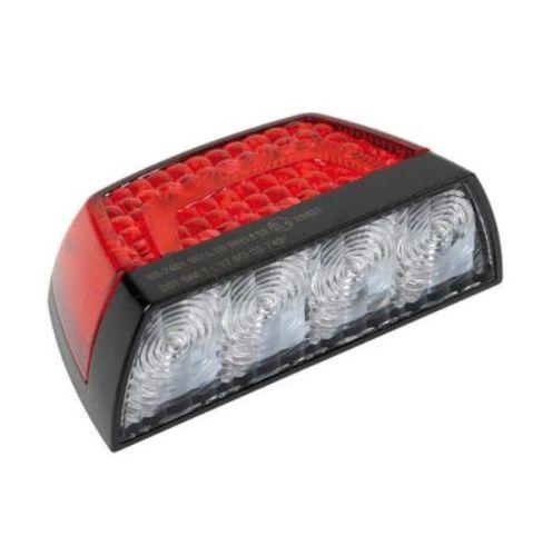 eclairage de plaque rouge 12led 12v 24v 1pi ce tout pour votre voiture et camion delrue. Black Bedroom Furniture Sets. Home Design Ideas