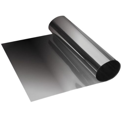 Zonneband transparant fade zwart 19x150cm