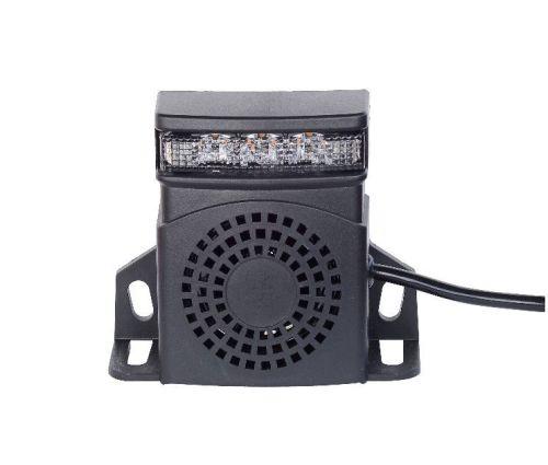 Achteruitrij Alarm dual (Alarm + oranje LEDflits) 10-30V