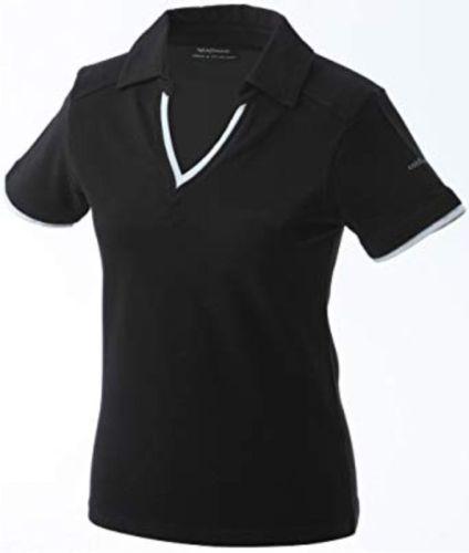PROMO Polo zwart/grijs high-qualityWOMEN L - XL