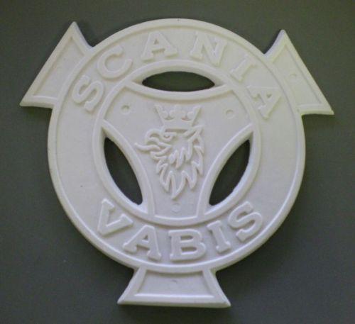 "Polyester logo ""Scania Vabis"" grijsØ21cm"
