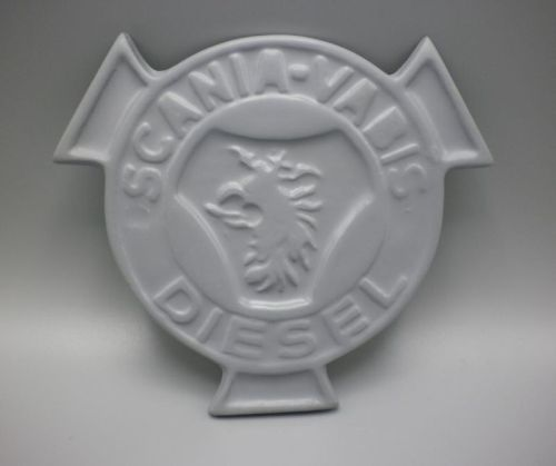 "Polyester logo ""Scania Vabis Diesel"" grijs Ø14cm"