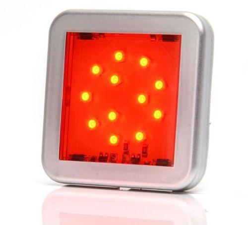 Interieurverlichting vierkant 12LEDrood 12V/24V (5,5x5,5cm)