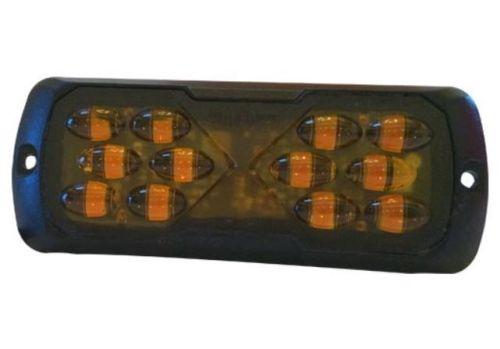 Flitslicht rechthoek 12LED oranje 11,4cm (12-24V)
