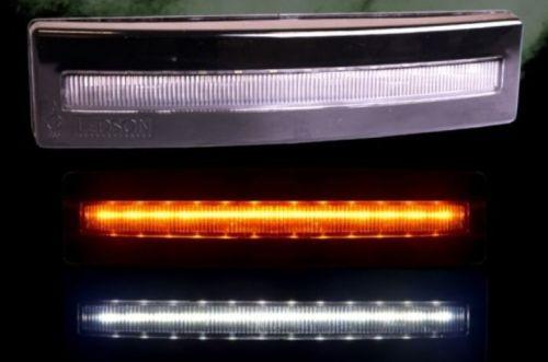 """Standlicht """"Ledson"""" LED oranje voorzonneklep Scania 4/R1/R2"""