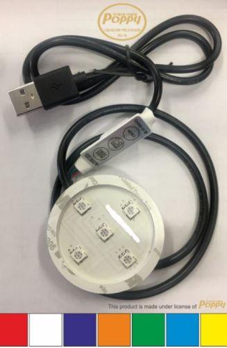 Poppy ledverlichting RGB 12V/24V (met USB-plug)
