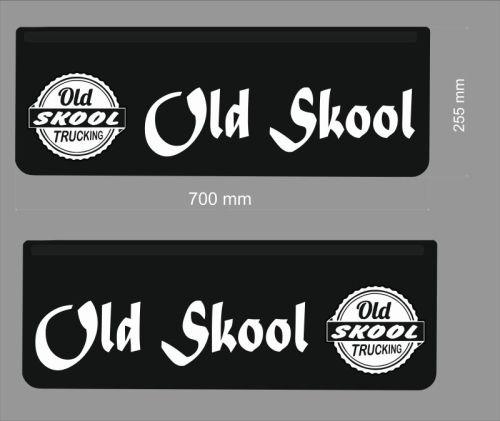 Spatlapset ZWART soepel Old Skool 70x25,5cm witte druk