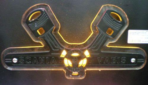 Logo VABIS verlicht oranje LED inox/plexi 12/24V
