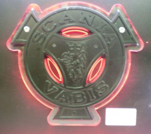 Logo VABIS verlicht rood LED inox/plexi 12/24V