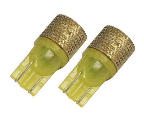 Ledlamp oranje T10/24V + strobe functie (2st)
