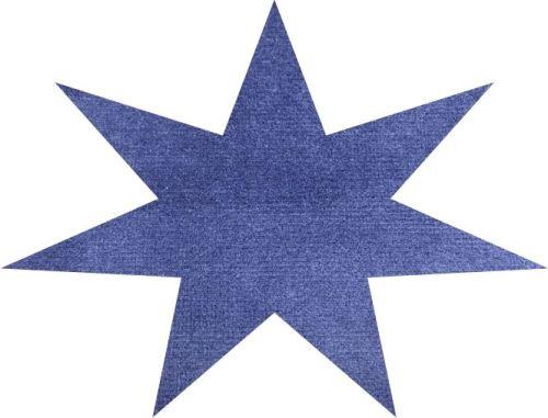 DL Stof per meter ELG NIEUW blauw 140cm