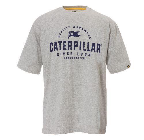 CAT Handcrafted T-Shirt - Heather Grijs - L