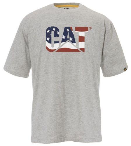 CAT T-Shirt Dhgrey Usa Flag T.L