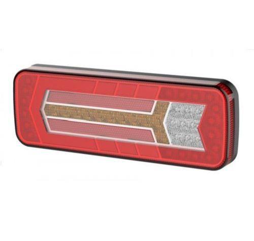Achterlicht LED rechthoek met dynamische pinker (28,4x11cm)