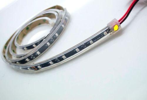 """Ledstrip 24V """"Flex"""" ORANJE IP68 (120cm) 72LED"""