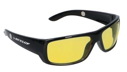 """Bril nacht/mist geel Dunlop """"nightvision"""" + hardcase"""
