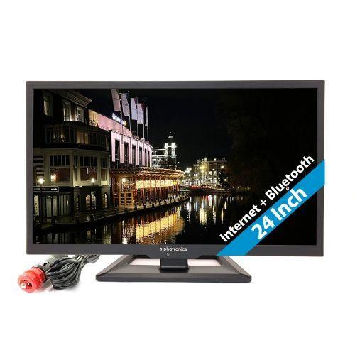 """TV Alphatronics 24"""" LED 12V/24V/230V FULL SMART + DVD"""
