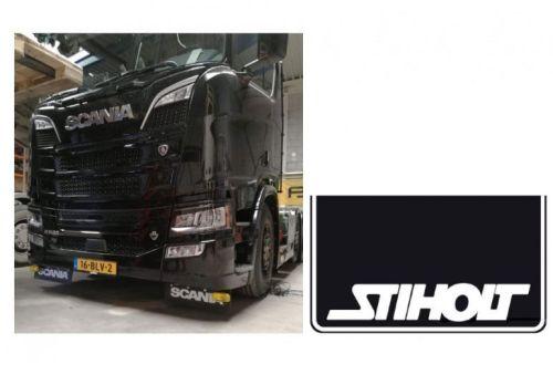 Spatlapset zwart Scania Next Gen./Stiholt wit + montagebeuge