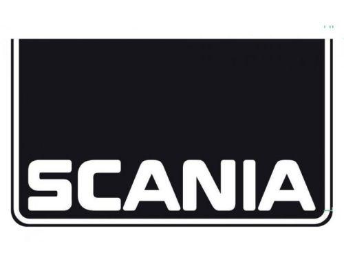 "Spatlapset zwart ""SCANIA + boordje""i/h wit (60x35cm)"
