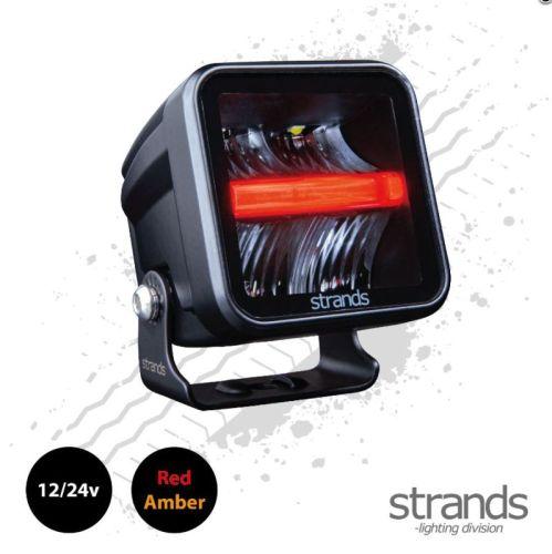 """Werklamp """"Siberia"""" Red Panda 7,2x7,2cm + standlicht or/rood"""