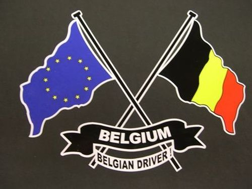 Klever vlag  Driver Belgium/Europa18 x 25 cm