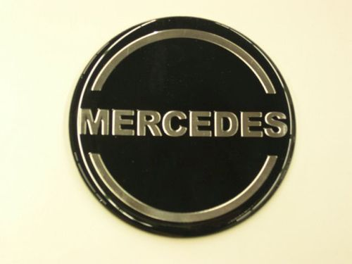 Logo Round Mercedes Dia 70 Mm Blacksilver All For Your Car And