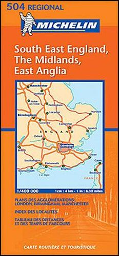 S E England Map.Michelin Map Nr 504 Se England Midlands East Anglia All For Your