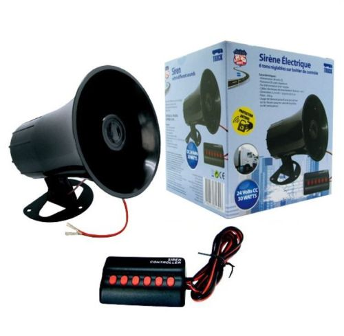 Air horn siren 6 different tones 24V + box - All for your