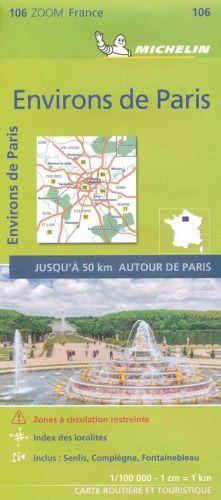 Carte Michelin nr 106 (Environs deParis) - Tout pour votre voiture et camion Delrue