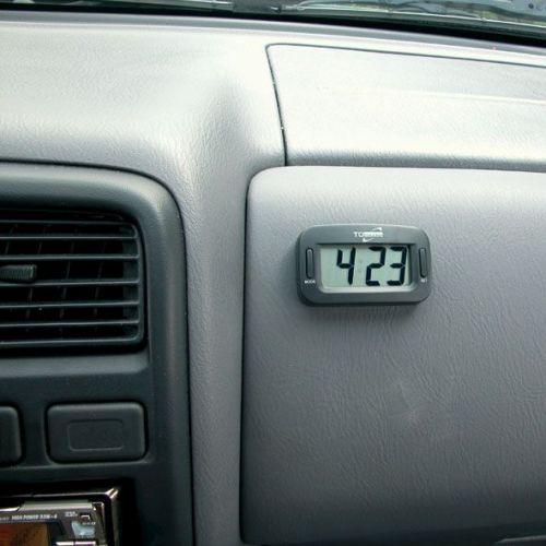 horloge digital 6 x 2cm noir tout pour votre voiture et camion delrue. Black Bedroom Furniture Sets. Home Design Ideas