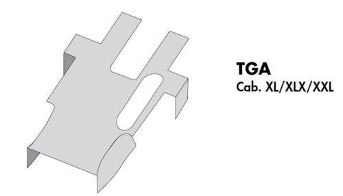 Italy motorkaphoes MAN TGA XXL-cabine grijs