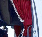 DL Zijgordijnenset 90cm witte franjes  ELG rood