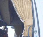 DL Zijgordijnenset 90cm witte franjes  ELG beige