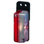 Hella zijlicht rood/wit vertikale montage met rubber