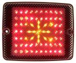Achter + rem + knipperlicht LED rechthoek 10-30V