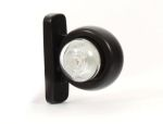 "Breedtepaal ""eyeball"" 2LED kort rood/wit 12V-24V"