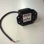 Werklamp inbouw 6LED 10V-30V 1500 Lumen
