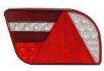 Achterlicht LED 'GloTrac' H14cm 12V/24V 5-functies LINKS