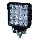 Werklamp 16LED vierkant 11x13,9x4,8cm 9V-32V 3040Lumen