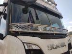 Stainless steel stoneguard Scania R/S 2016-> (2x logo Svempa