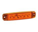 Markeerlicht 6LED oranje plat 12V/24V