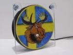 "Raamverlichting LED ""Angry Moose"" 17,5x17,5cm 24V"