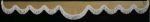 DL Voorraamgordijn ELG beige groteboog + lange franjes 8cm