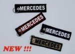 Sleutelhanger Delrueline 13x3cm alcantara Mercedes