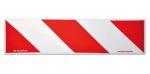 Autocollant blanc/rouge réfléchissant 13,5x50cm (2pièces)