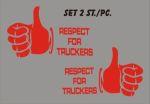 Kleverset Respect truckers duim rood 20x32cm - 2st