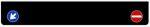 Spatlap ZWART blanco (met verkeersborden) B250xH40cm