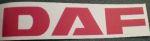 Klever truckmerk DAF 10 cm rood